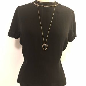 Vintage Top w/ detailed collar & back XS-S